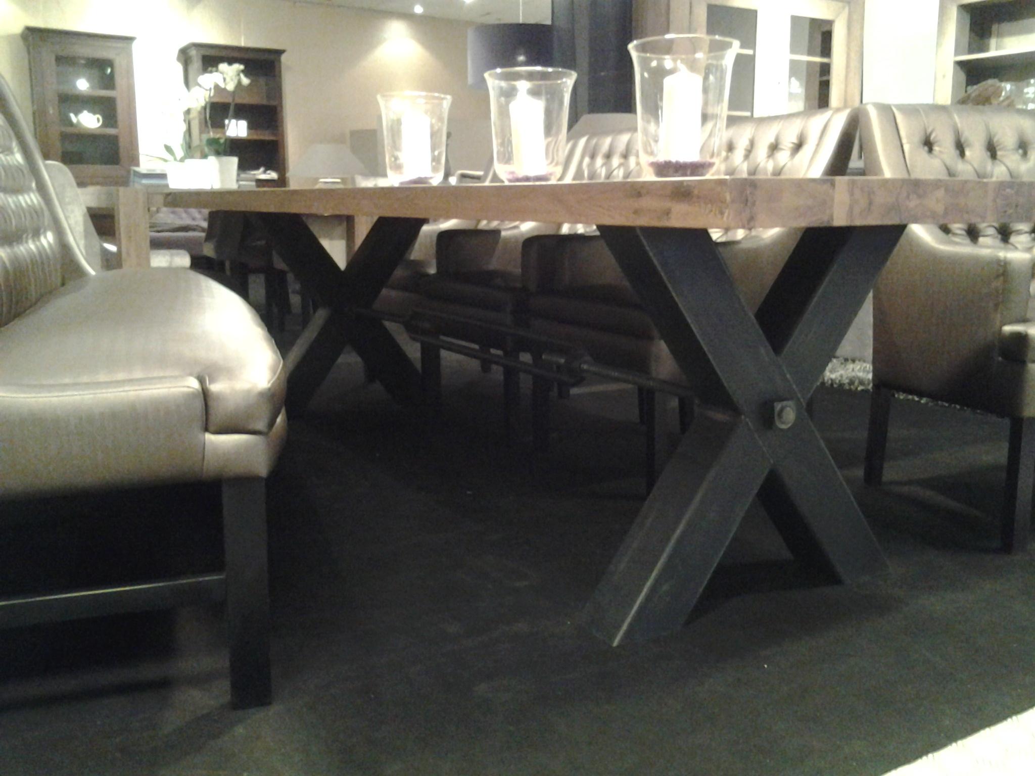 Eetkamertafel Decoratie : Eetkamertafel Industrial - Rue de Rosa