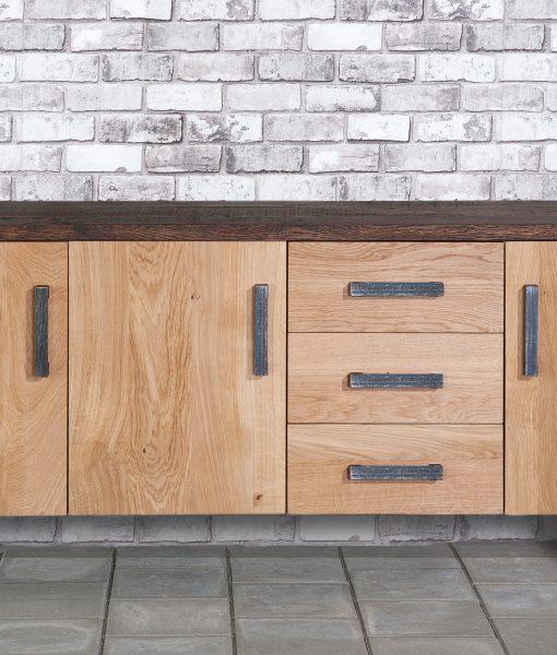 Sturdy dressoir klein met steelrack