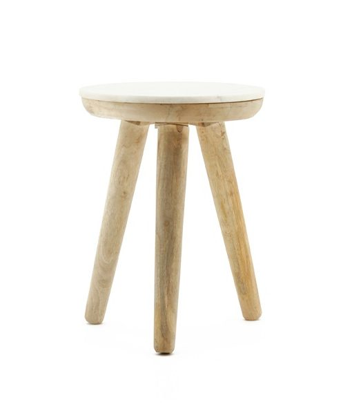 Trident table 40cm white