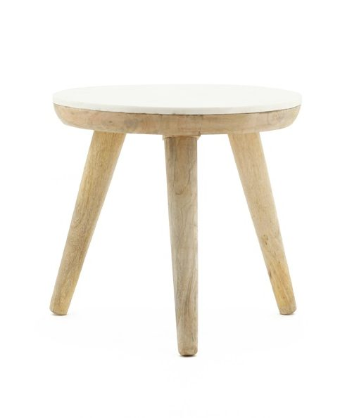 Trident table 50cm white