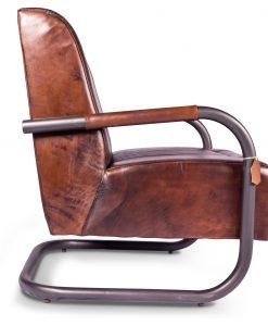 Vintage fauteuil Frank, ronde buis
