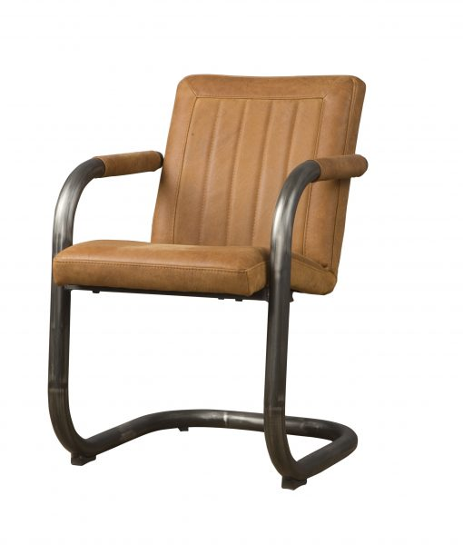 LM 0040 - Lasso armchair - leather rust (V)