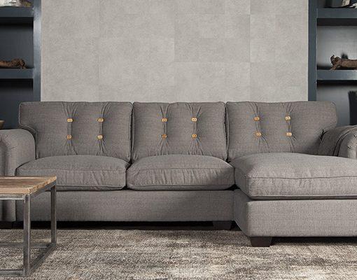 UrbanSofa Fabio Presto loungebank met houten knoop