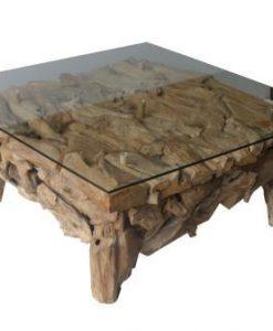 Root salontafel vierkant