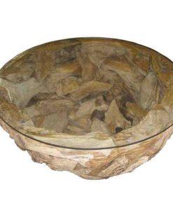 Root Salontafel Kom vorm