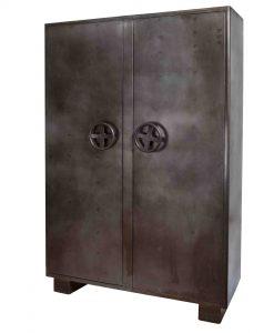 Kluiskast 2 deurs Industrieel/Vintage22532-LR