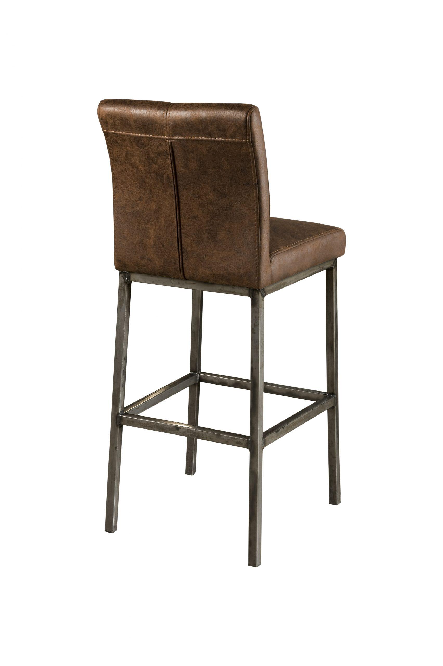 NC 0052 - Sevilla barstool - fabric dark brown (A)