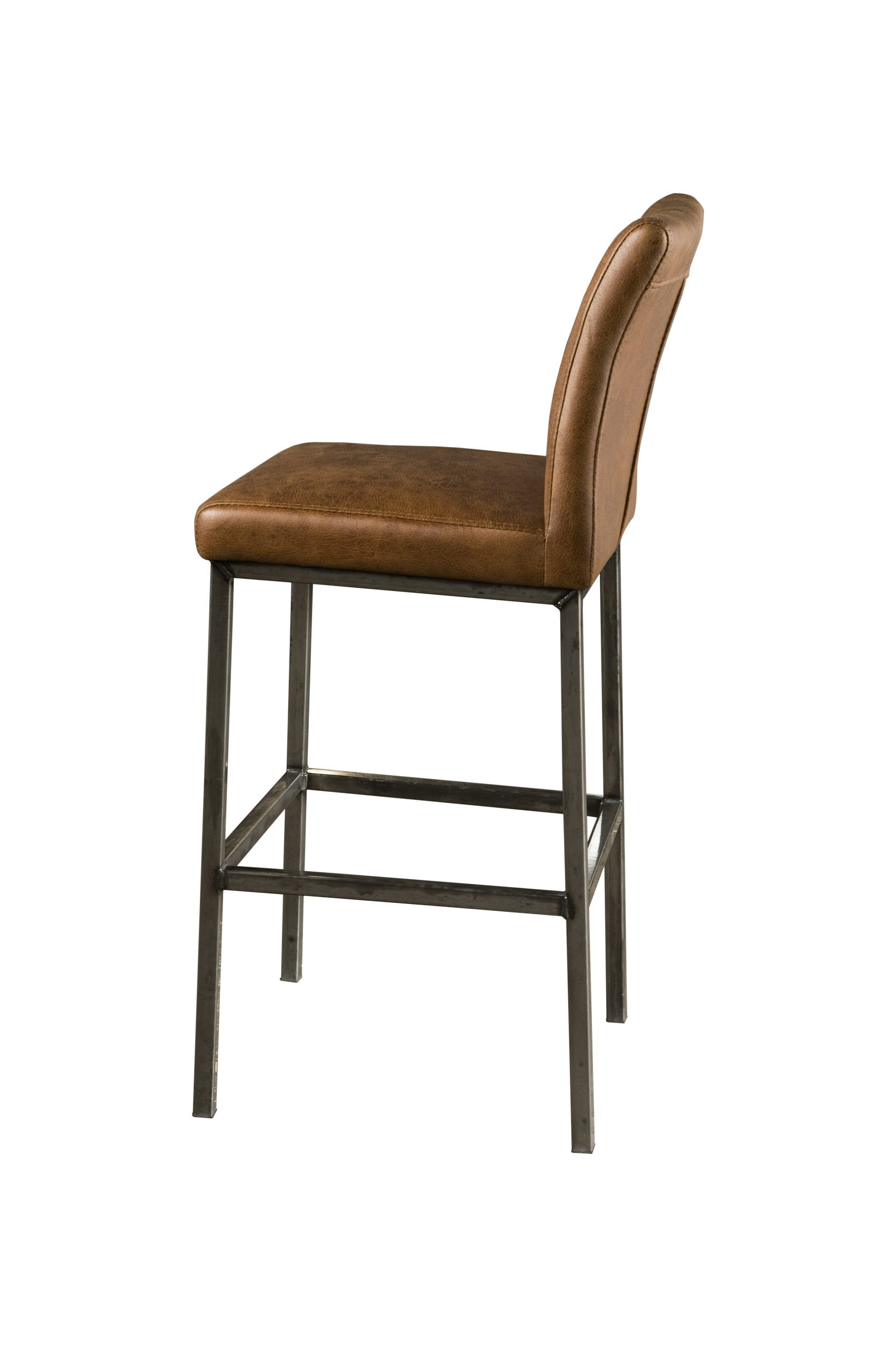 NC 0052 - Sevilla barstool - fabric dark brown (A)