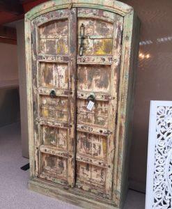 India kast oude deuren ronde lijst