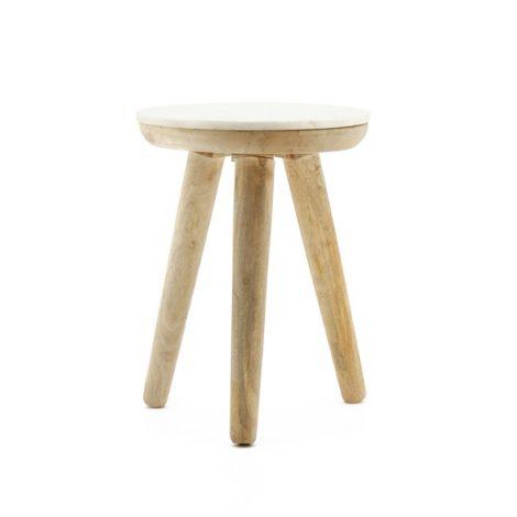 Trident table 40cm white