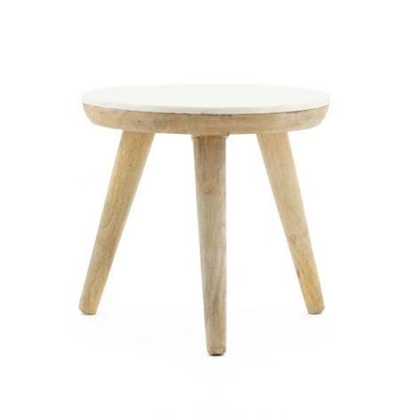 Trident table 50cm white