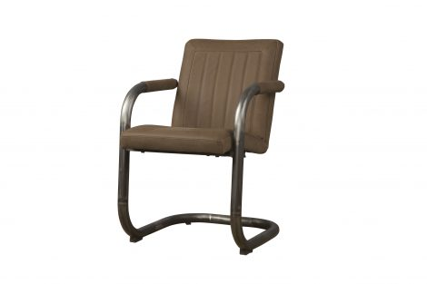 LM 0038 - Lasso armchair - leather taupe (V)