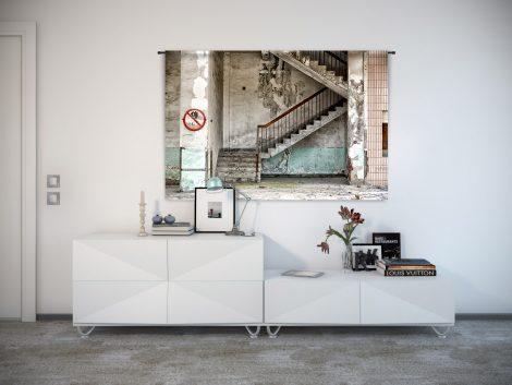 Urban Cotton wandkleed Concrete Stairs