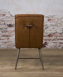 NC 0131 - Belmonte sidechair - Cherokee 8 cognac (a)