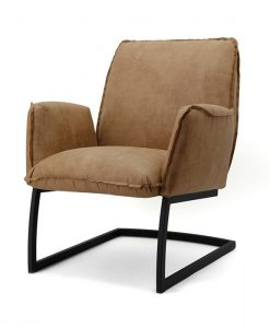 cognac fauteuil swing eleonora