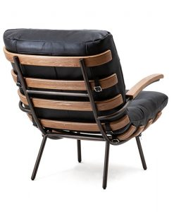 fauteuil zwart leder eleonora