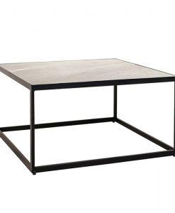 salontafel marmer zwart vierkant