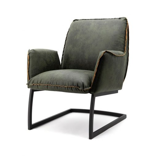 stoere fauteuil groen nelson