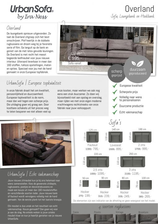UrbanSofa-Overland-Sofa produkt folder 1