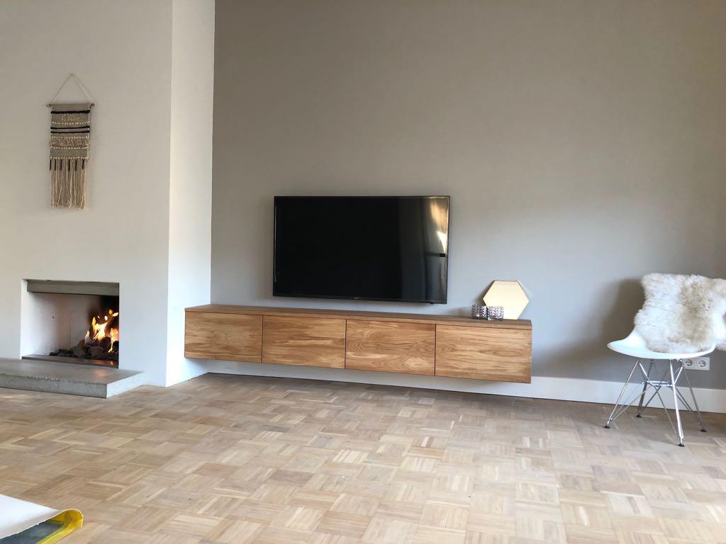 Hangende Tv Kast Op Maat Gemaakt Rue De Rosa